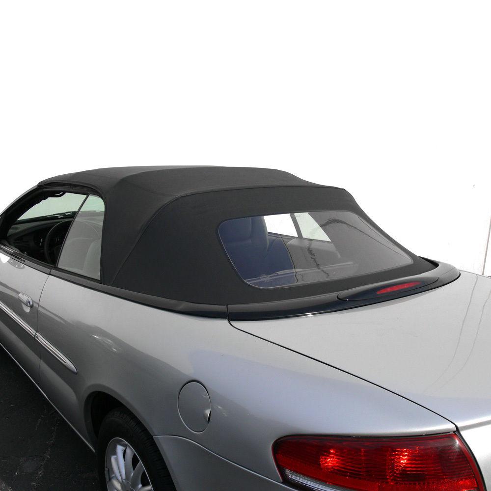幌 セブリング・コンバーチブル・トップ96-06(ブラック・セイル・ビース) Sebring Convertible Top 96-06 in Black Sailcloth Vinyl with Plastic Window