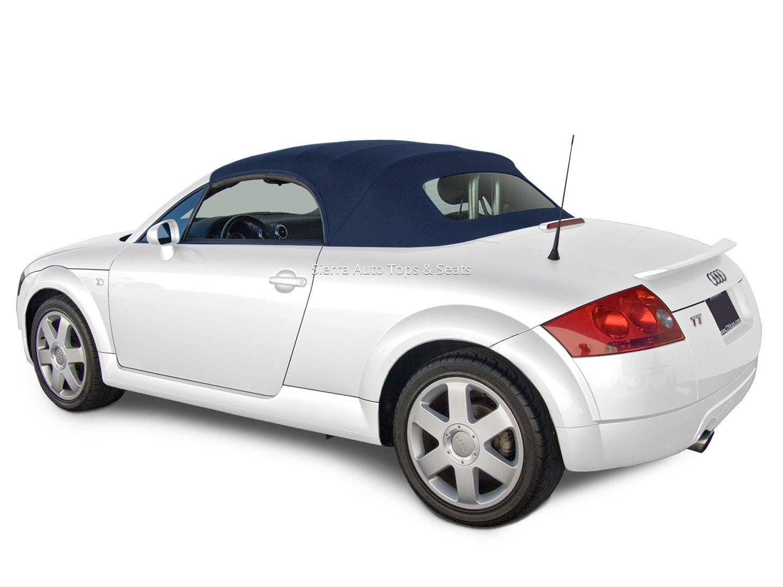 幌 アウディTTコンバーチブルトップ(ブルー)Twillfast RPC Cloth(ガラス窓付き) Audi TT Convertible Top in Blue Twillfast RPC Cloth with Glass Window