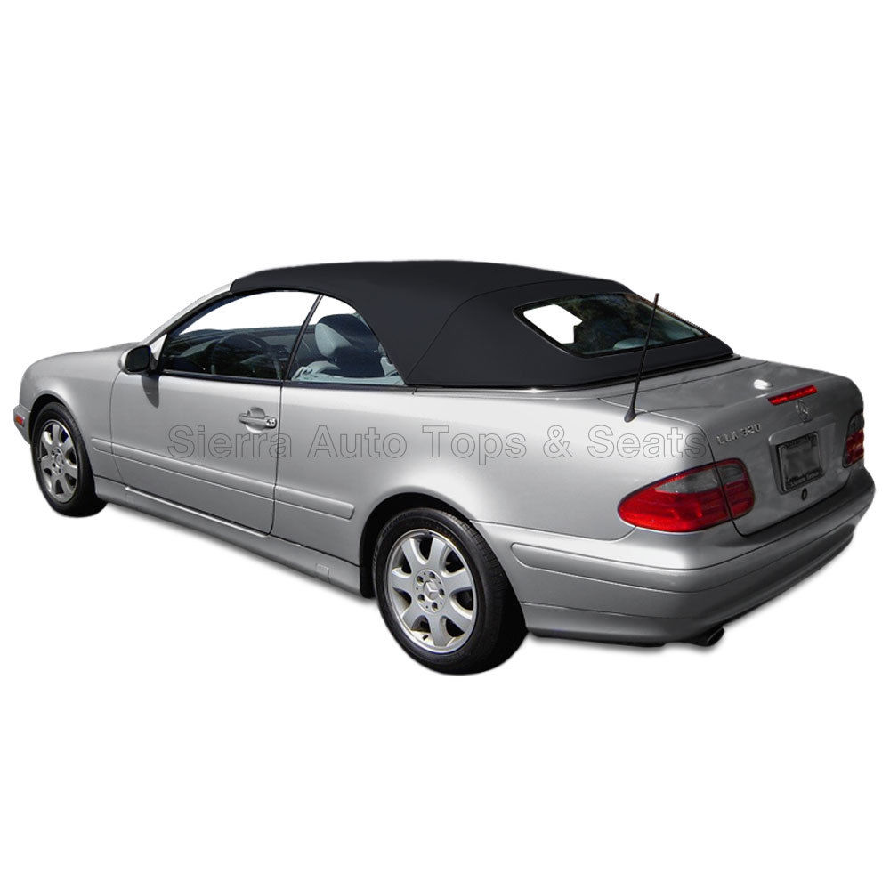 幌 メルセデスCLKコンバーチブルトップ99-03、ガラス窓付き、ブラックA5クロス Mercedes CLK Convertible Top 99-03, w/Glass Window, Black German A5 Cloth