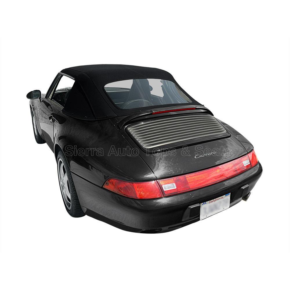 幌 ポルシェ911コンバーチブルトップ83-94ブラックドイツ語クラシック、新しい1ピーススタイル Porsche 911 Convertible Top 83-94 in Black German Classic, Newer 1 Piece Style