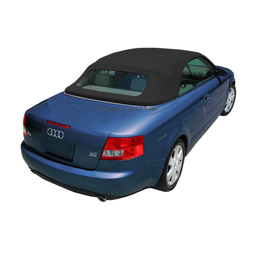 幌 アウディA4のコンバーチブルトップ(黒)ドイツ語A5B / DSアコースティッククロス(ガラス窓付) Audi A4 Convertible Top in Black German A5B/DS Acoustic Cloth with Glass Window