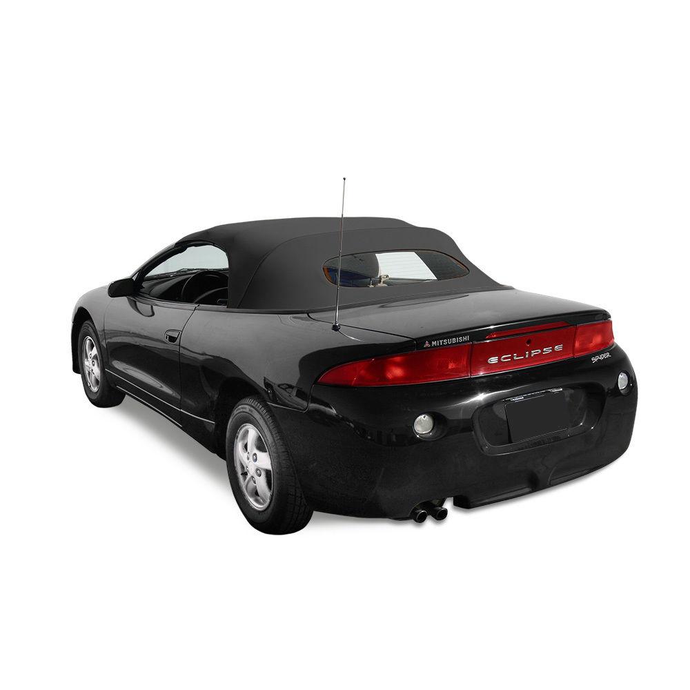 幌 Mitsubishi Eclipse 1996-1999コンバーチブルトップ - ブラックCabrioビニール - ガラス窓 Mitsibushi Eclipse 1996-1999 Convertible Top - Black Cabrio Vinyl- Glass Window