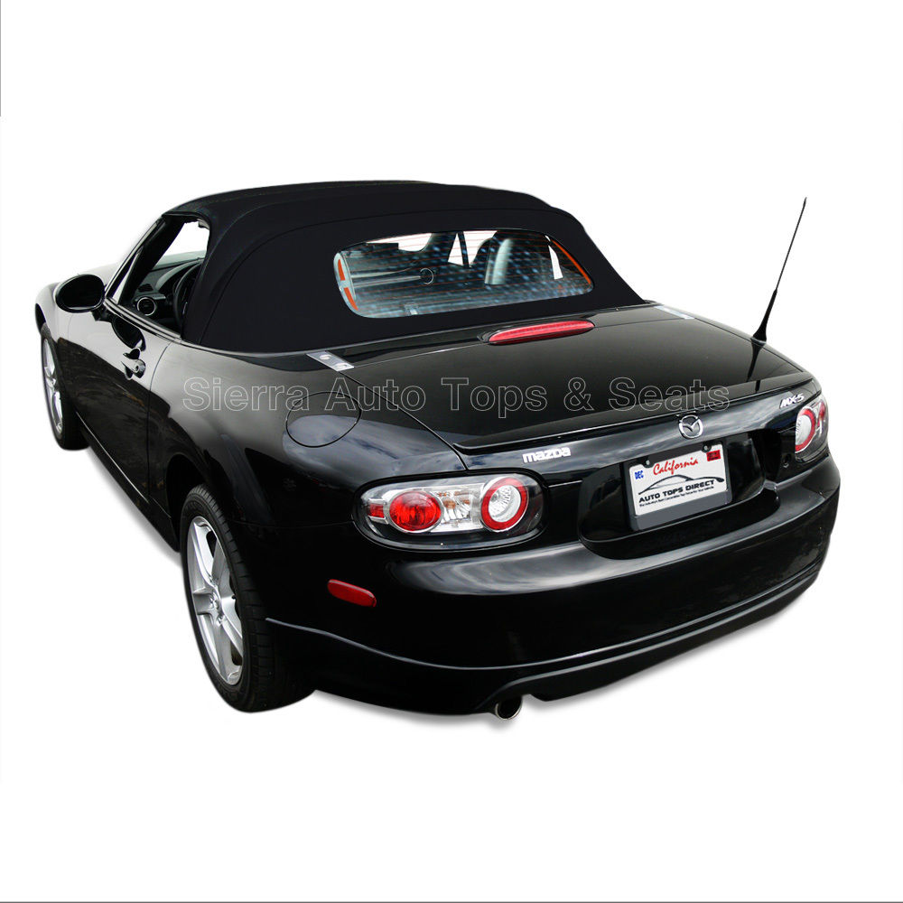 幌 ミアタ・コンバーチブル・トップ、黒で06-14 Miata Convertible Top for 06-14 in Black Stayfast Cloth, Heated Glass Window