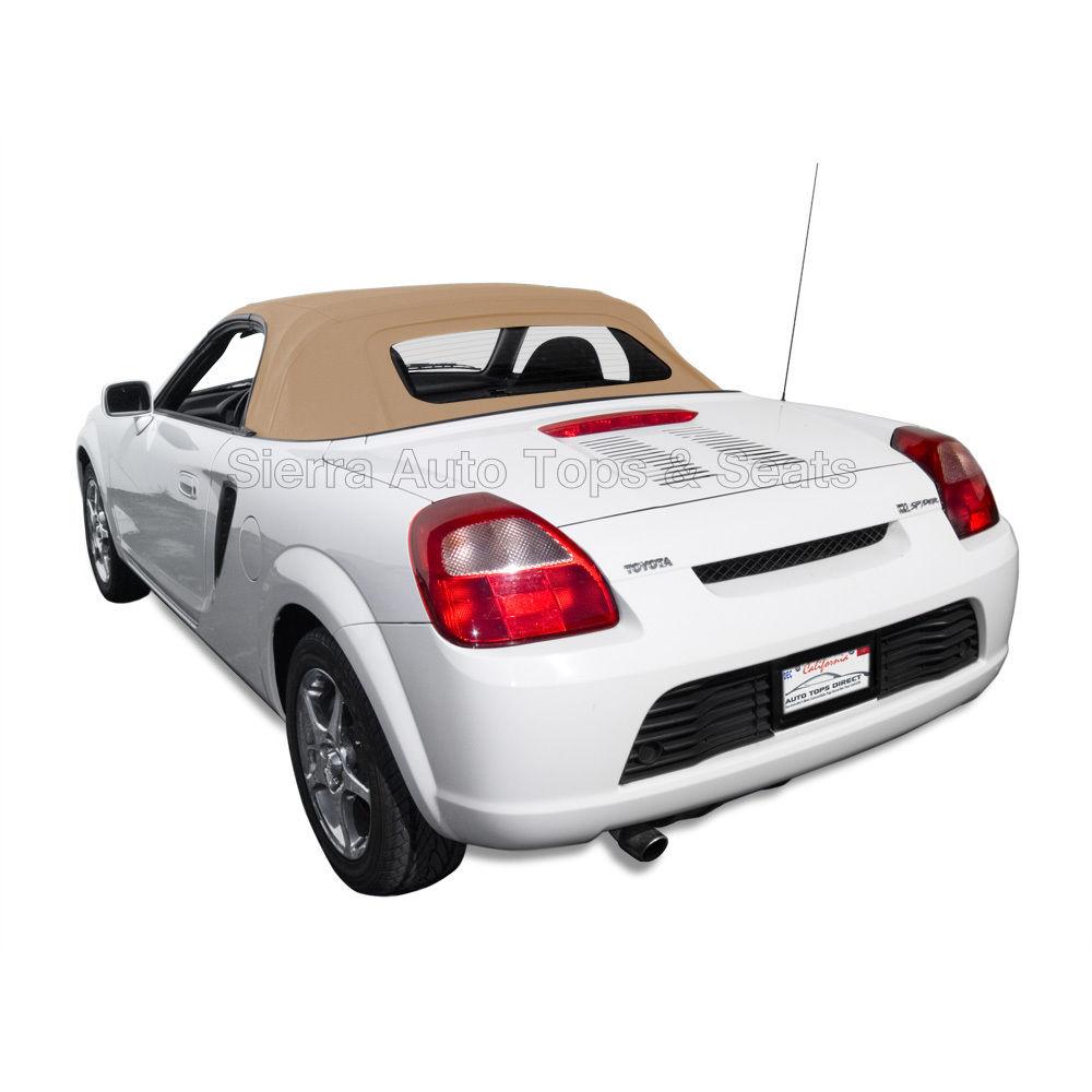 幌 トヨタMR2スパイダー2000-2007コンバーチブルトップ - タンステイファストクロス - ガラス窓 Toyota MR2 Spyder 2000-2007 Convertible Top - Tan Stayfast Cloth - Glass Window