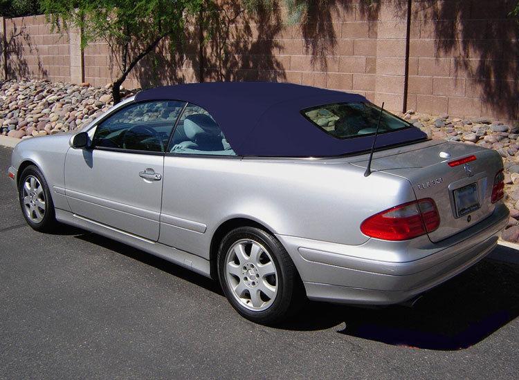 幌 フィット:メルセデスCLKコンバーチブルトップ99-03ウインド、ブルーハルツ Fits: Mercedes CLK Convertible Top 99-03 w/o Window, Blue Haartz Stayfast
