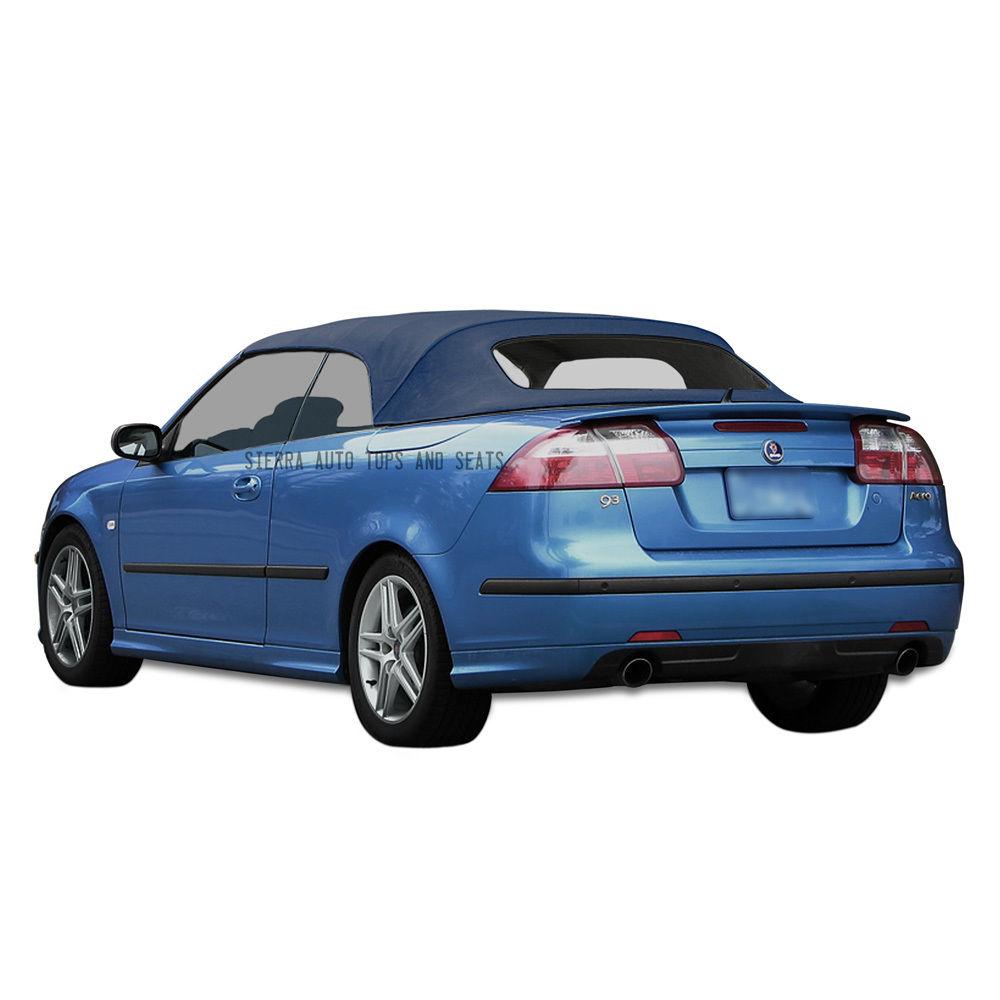 幌 Saab 9-3 Convertibleトップ2004-2011ブルードイツ語A5クロス、窓なし Saab 9-3 Convertible Top 2004-2011 in Blue German A5 Cloth, No Window