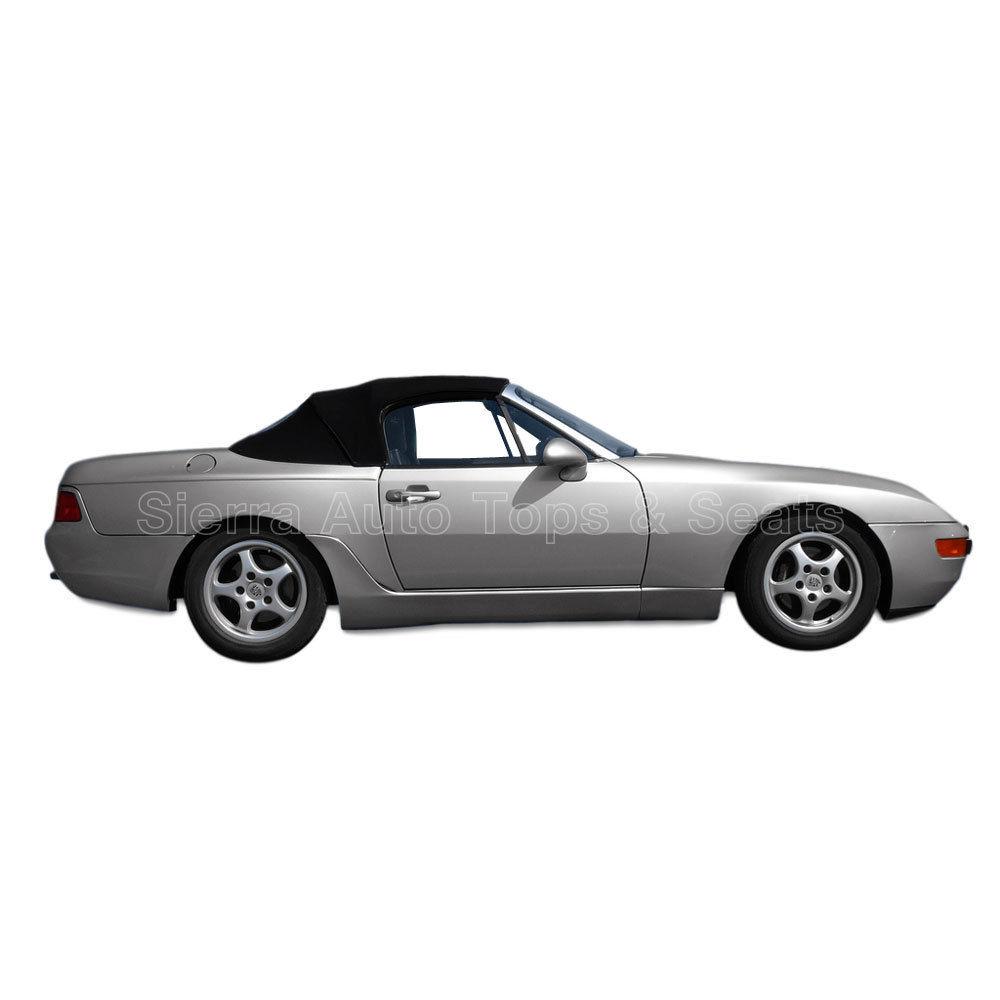 幌 フィット:1989-1995ポルシェ944/968 - コンバーチブルトップ、2pc、バックHaartz Fits: 1989-1995 Porsche 944/968 - Convertible Top, 2pc, Back Haartz Stayfast