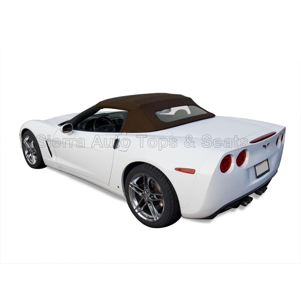 幌 フィット:2005-2013コルベット、ガラス窓付きコンバーチブルトップ、ブラックツイルビニール Fits: 2005-2013 Corvette, Convertible Top w/Glass Window, Black Twill Vinyl