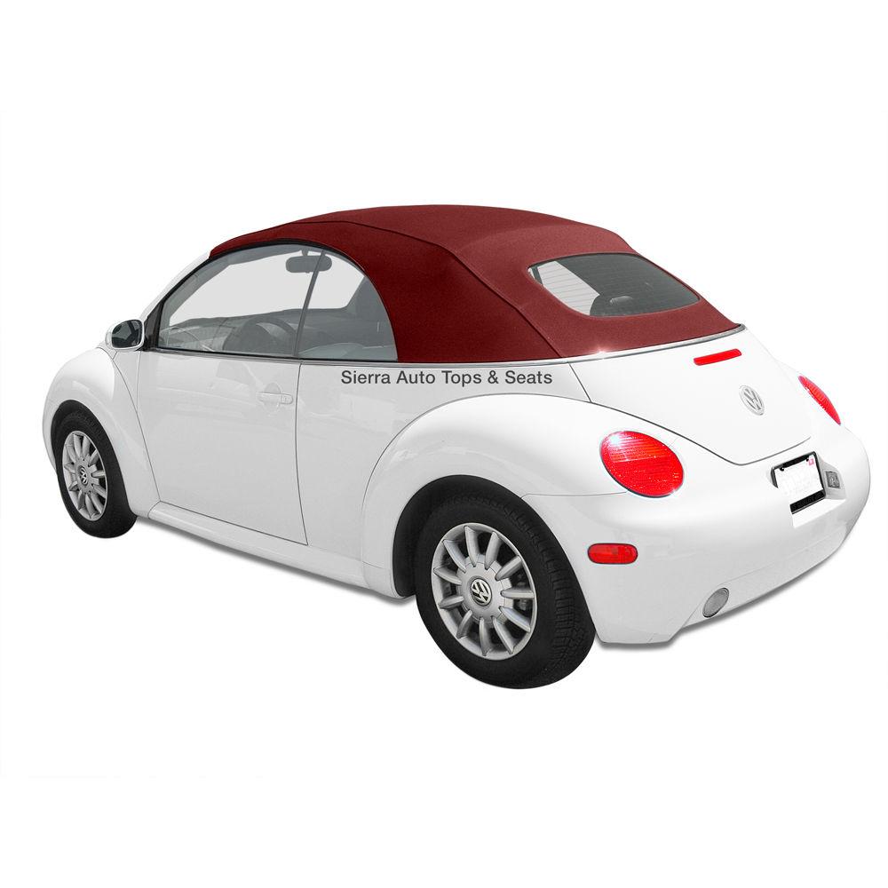 幌 VW Beetle 2003-2010ボルドーのコンバーチブルトップドイツのガラス窓付きA5 VW Beetle 2003-2010 Convertible Top in Bordeaux German A5 with Glass Window