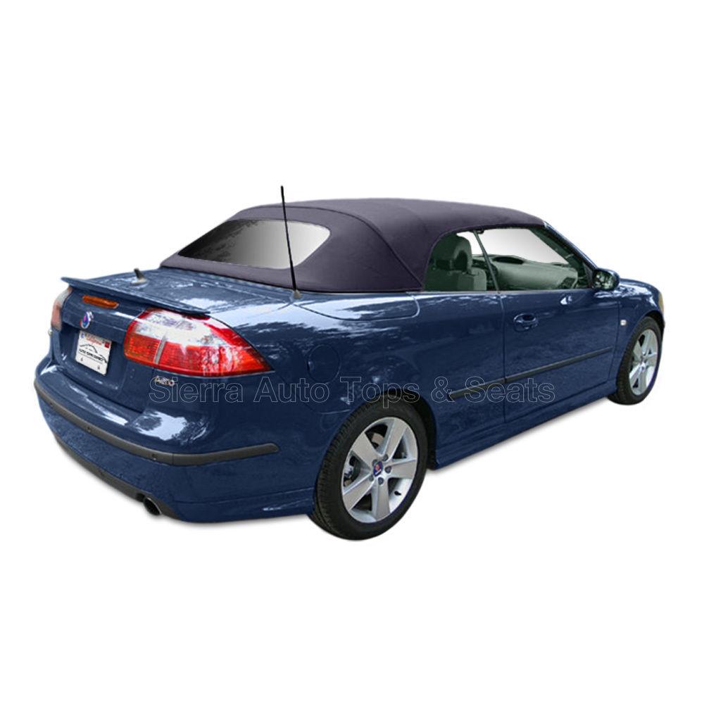 幌 Saab 900 Convertible Top 1996-98ブルーツイルファーストIIクロス、窓なし Saab 900 Convertible Top 1996-98 in Blue Twillfast II Cloth, No Window