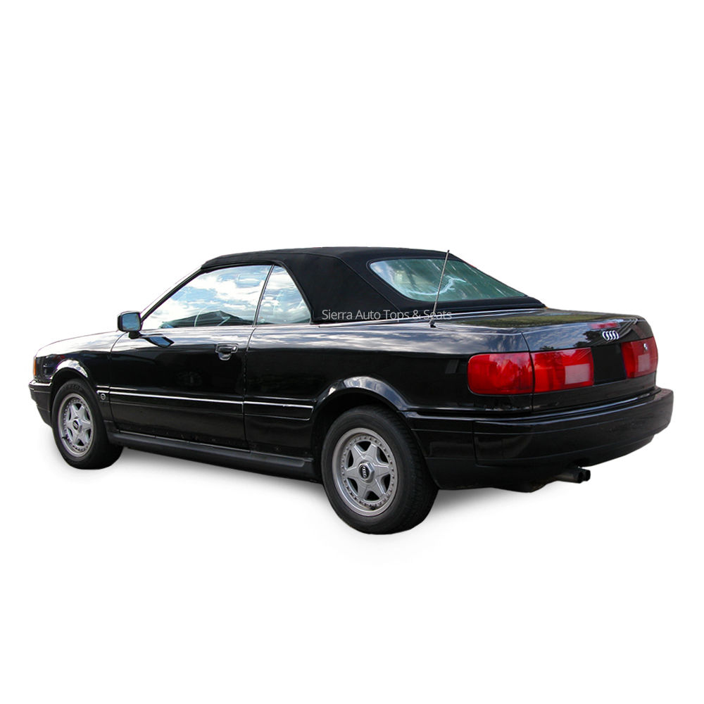 幌 Audi Cabrio Convertible Top、1992-98、Black German Cloth、Plastic Window Audi Cabrio Convertible Top, 1992-98, Black German Cloth, Plastic Window