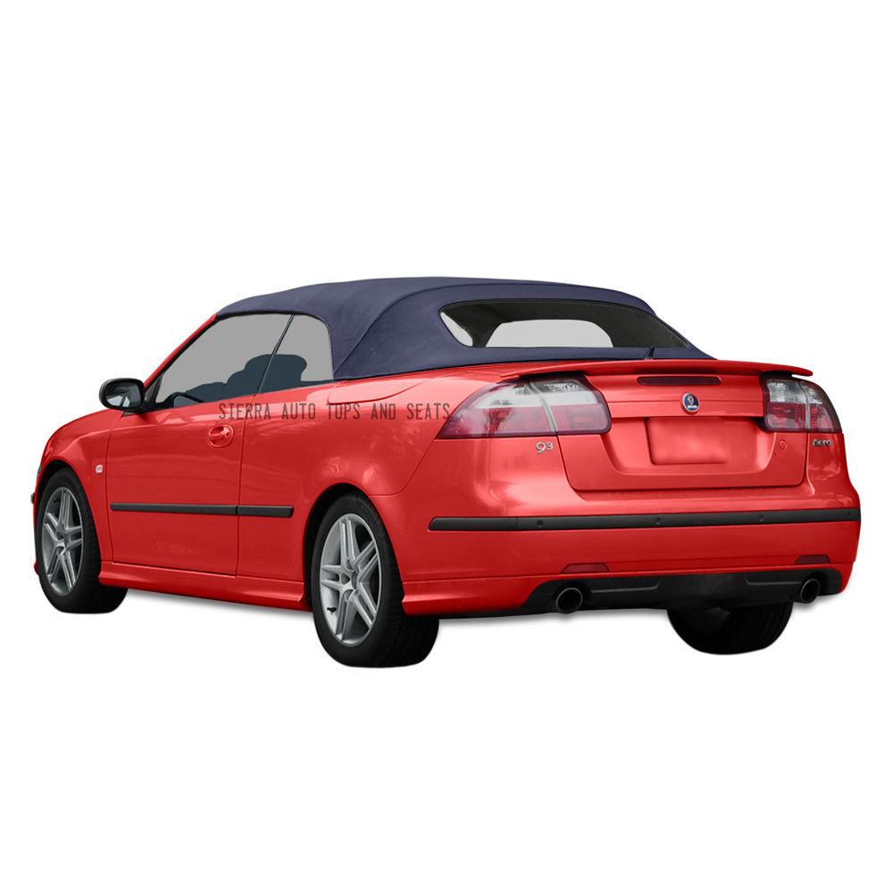 幌 Saab 9-3 Convertibleトップ2004-2011 Blue Twillfast II布、窓なし Saab 9-3 Convertible Top 2004-2011 in Blue Twillfast II Cloth, No Window