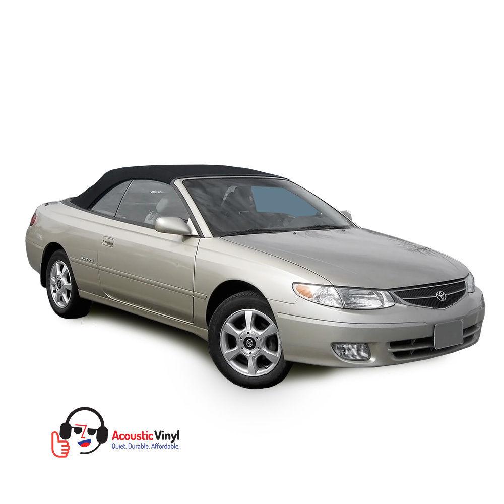 幌 フィット:1999-2003トヨタソララコンバーチブルトップ、ブラックトリロジービニール、ガラス窓 Fits: 1999-2003 Toyota Solara Convertible Top, Black Trilogy Vinyl, Glass Window
