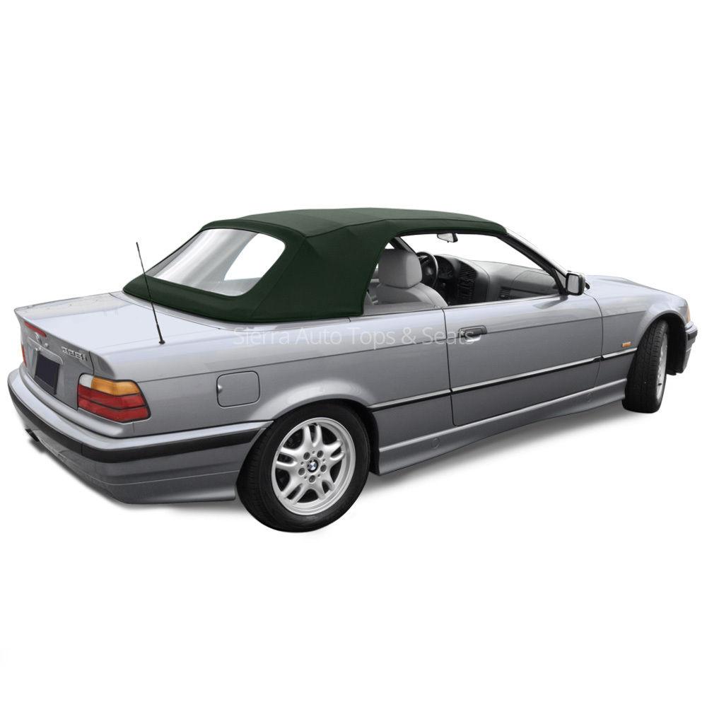 幌 BMW 3シリーズコンバーチブルトップ94-99、グリーンツイストファーストII、プラスチック窓 BMW 3-Series Convertible Top 94-99, Green Twillfast II, Plastic Window