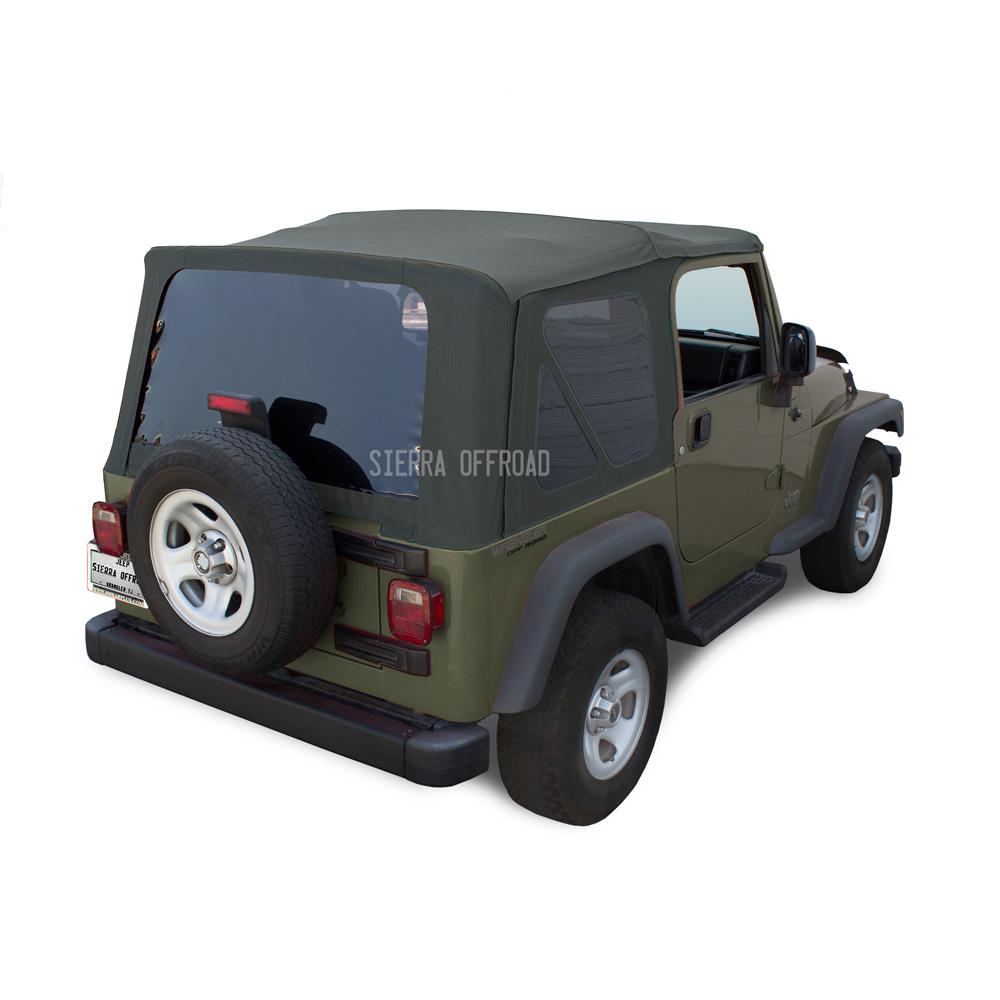 幌 ジープ・ラングラーTJソフトトップ、2003年?2006年、ティンテッド・ウィンドウズ、カーキ・ダイヤモンド Jeep Wrangler TJ Soft top, 2003-2006, Tinted Windows, Khaki Diamond