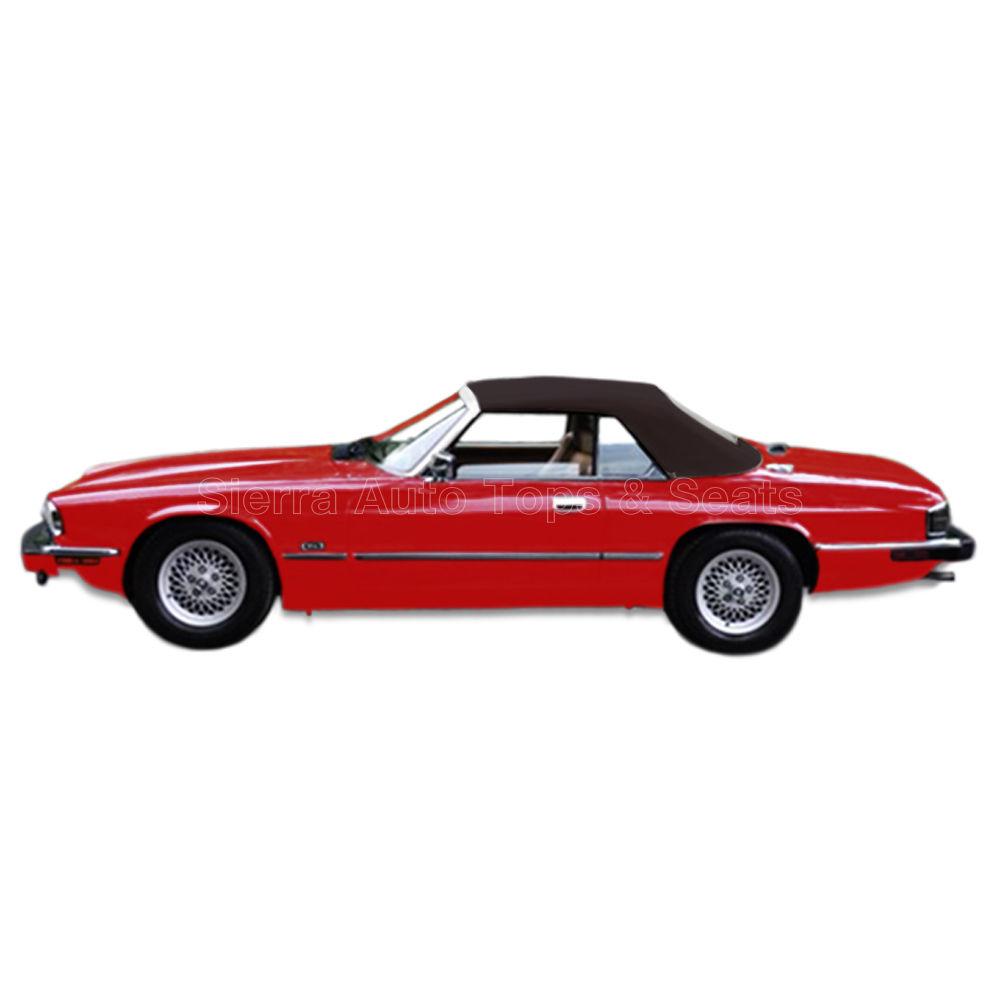 幌 ジャガーXJSコンバーチブルトップ、89-96、ブラウンツイルファストクロス Jaguar XJS Convertible Top, 89-96, Brown Twillfast Cloth