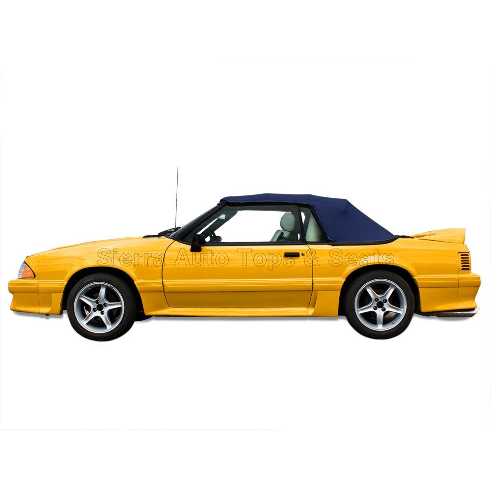 幌 ムスタング・コンバーチブル・トップ(91-93全モデル)ブルー・ビニール、ティンテッド・グラス・ウィンドウ Mustang Convertible Top (91-93 All Models) Blue Vinyl, Tinted Glass Window