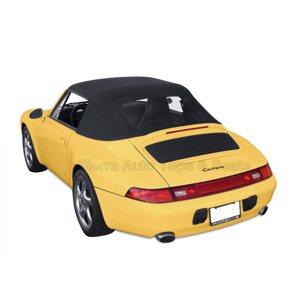 幌 フィット:1995-1998ポルシェ911 - コンバーチブルトップ、ブラックハルツェースステイファスト Fits: 1995-1998 Porsche 911 - Convertible Top, Black Haartz Stayfast