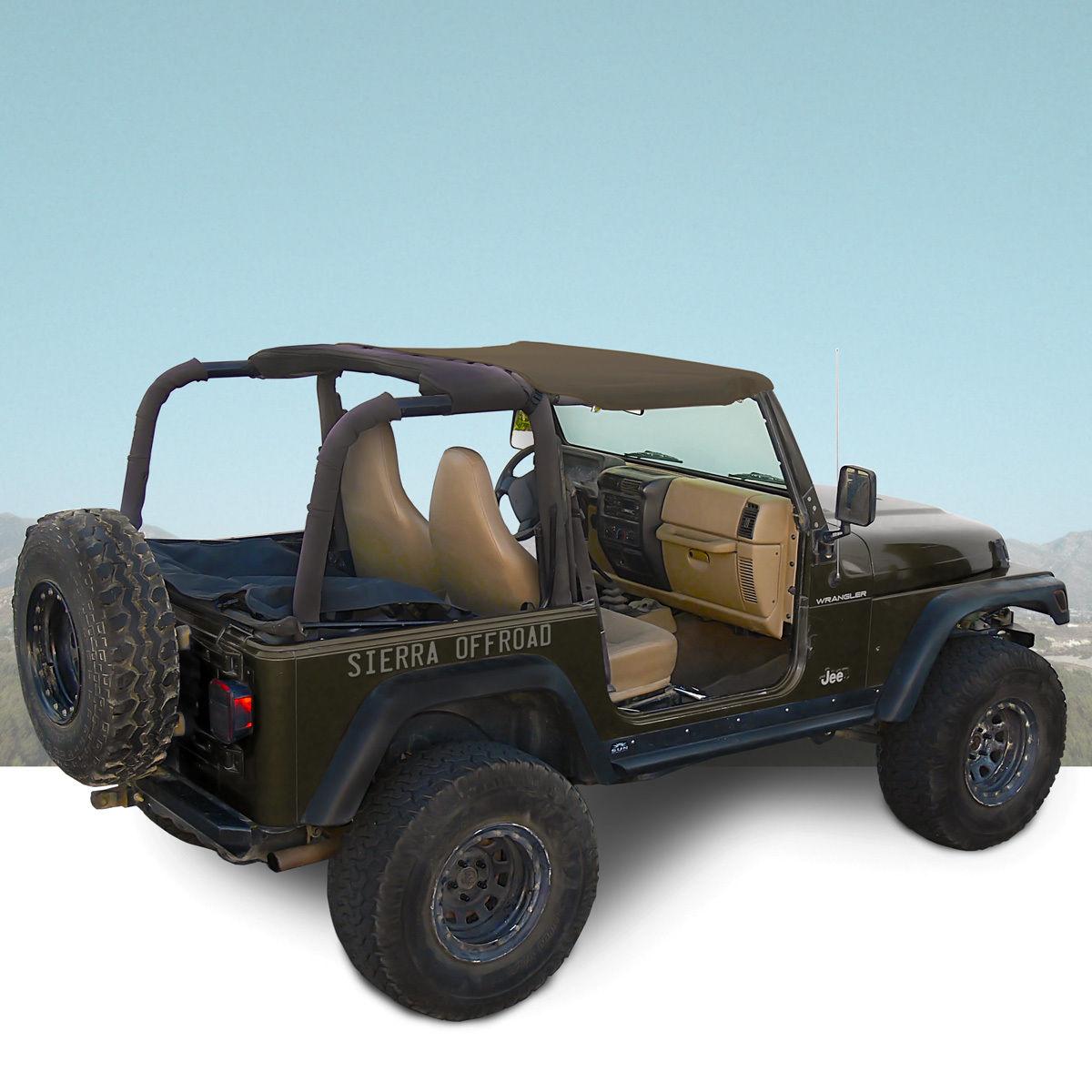 幌 ジープサントップ97-06ラングラーTJカーキダイヤモンド Jeep Sun Top for 97-06 Wrangler TJ in Khaki Diamond
