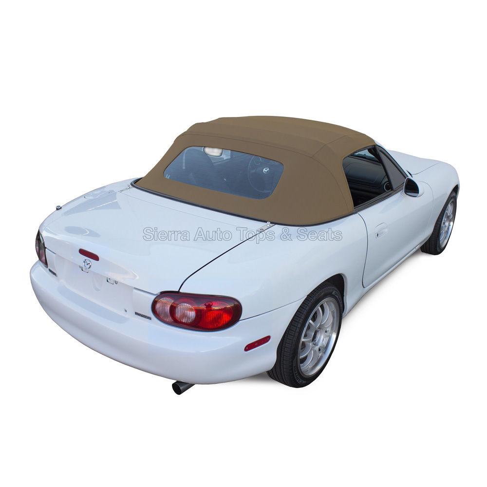 幌 Miata、90-05ライト・タン・カブリオ・ビニール・コンバーチブル・トップ、ノン・ジッパー・ガラス・ウィンドウ Miata, 90-05 Light Tan Cabrio Vinyl Convertible Top, Non-Zippered Glass Window