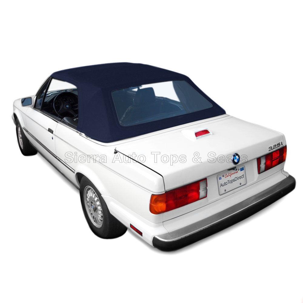 幌 BMW 3シリーズ・コンバーチブル・トップ、1987年?93年Blue Stayfast、Plastic Window BMW 3-Series Convertible Top, 1987-93 in Blue Stayfast, Plastic Window