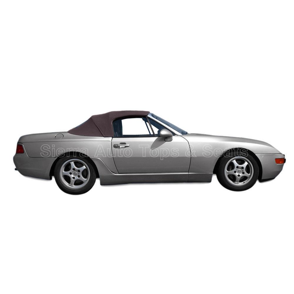 幌 ポルシェ944/968コンバーチブルトップ89-95,2ピース、ドイツ製の布、ブラウン Porsche 944/968 Convertible Top 89-95, 2 piece, Haartz German Cloth, Brown
