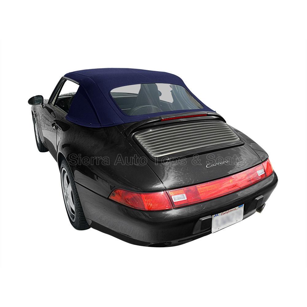 幌 ポルシェ911コンバーチブルトップ83-94ブルードイツンクラシック、新しい1ピーススタイル Porsche 911 Convertible Top 83-94 in Blue German Classic, Newer 1 Piece Style