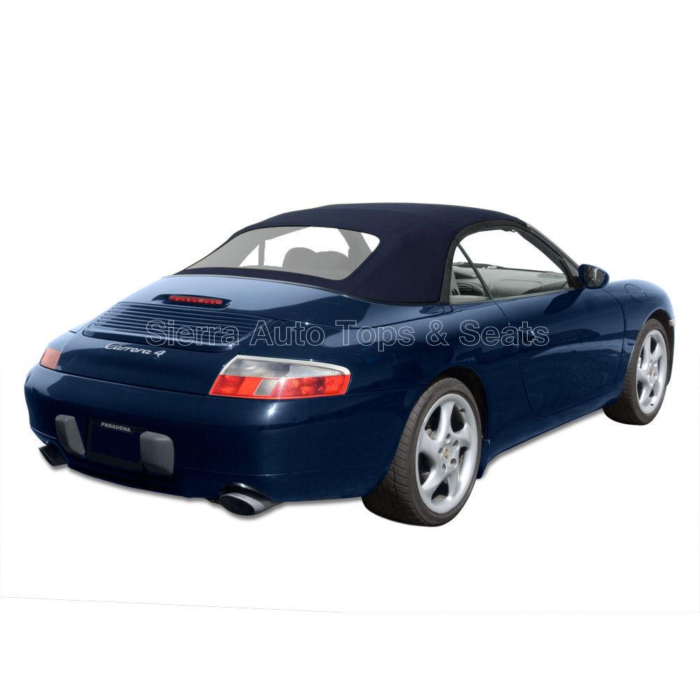 幌 ポルシェ911コンバーチブルトップ99-01、ブルーステイファスト、ジッパー式プラスチック窓 Porsche 911 Convertible Top 99-01, Blue Stayfast, Zippered Plastic Window