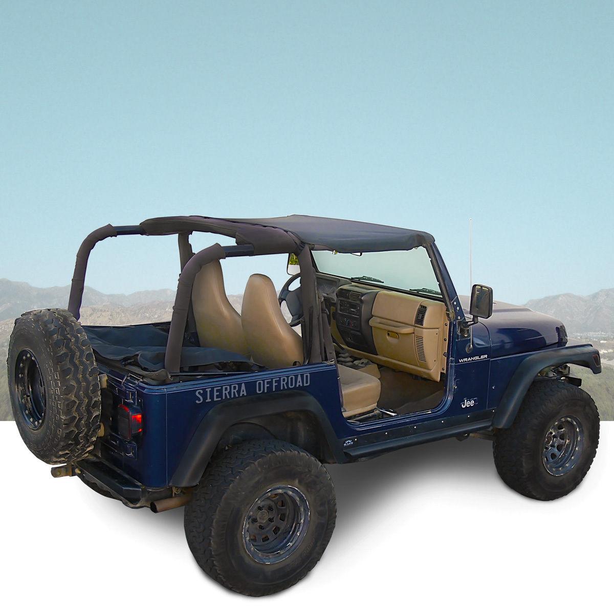 幌 ジープサントップ97-06ラングラーTJブラックデニム Jeep Sun Top for 97-06 Wrangler TJ in Black Denim
