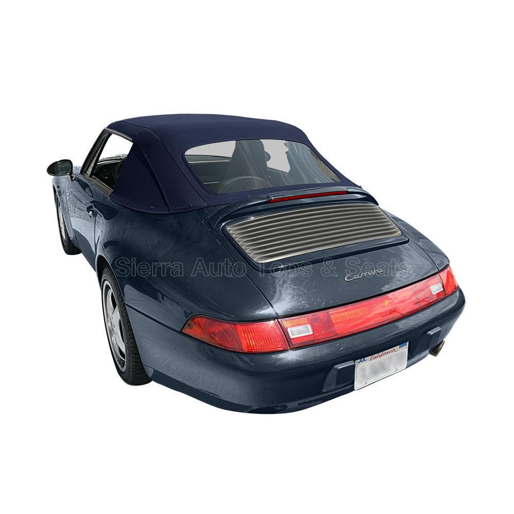 幌 ポルシェ911コンバーチブルトップ83-94 in Blue Stayfast、1 Pc Style、Plastic Window Porsche 911 Convertible Top 83-94 in Blue Stayfast, 1 Pc Style, Plastic Window