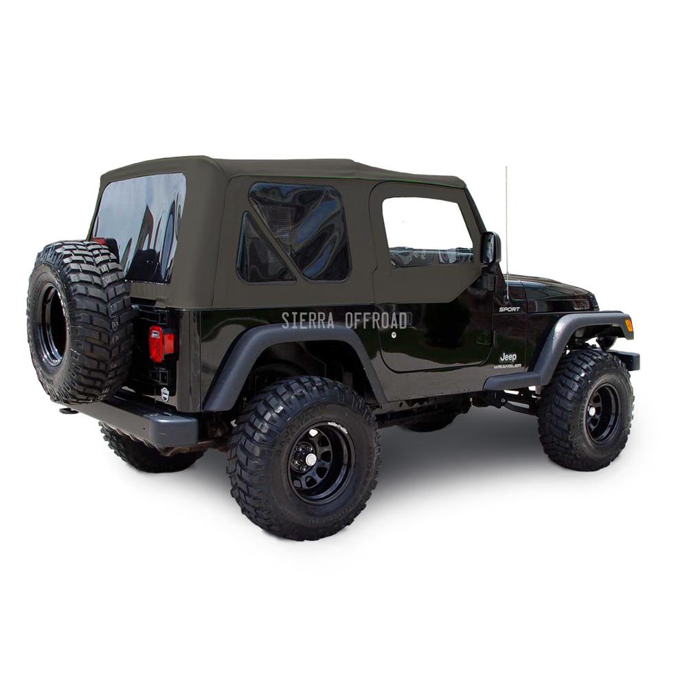 幌 ジープラングラーTJトップ、03-06、ティンテッドウインドウ、アッパードア、カーキダイヤ Jeep Wrangler TJ Top, 03-06, Tinted Windows, Upper Doors, Khaki Diamond