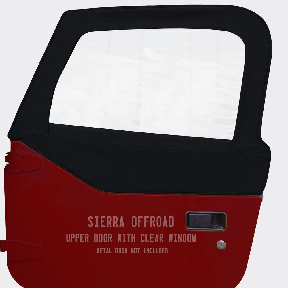 幌 ジープTJ Wranglerドアスキンは97-06で販売されています。ペア、ブラックツイルグレイン Jeep TJ Wrangler Door Skins for 97-06 Sold in Pairs, Black Twill Grain