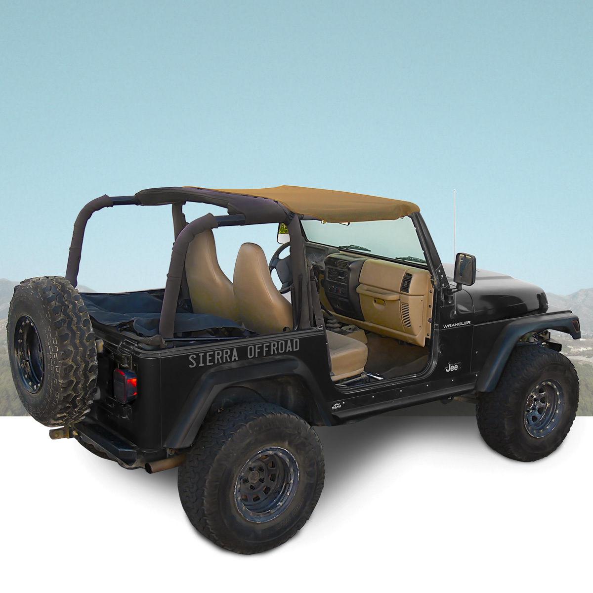幌 ジープサントップ97-06ラングラーTJのスパイスセイルローツ Jeep Sun Top for 97-06 Wrangler TJ in Spice Sailcloth