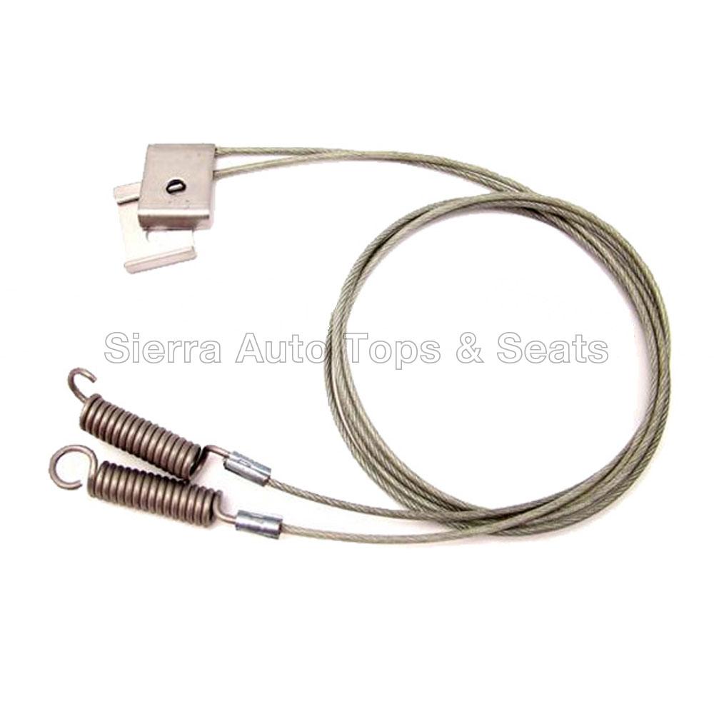 幌 Mustang 1994-1995コンバーチブルトップサイドテンションケーブル、ペア Mustang 1994-1995 Convertible Top Side Tension Cables, Pair