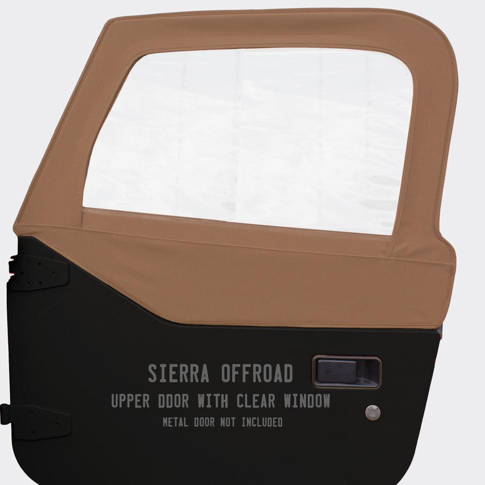 幌 ジープTJ Wranglerドアスキンは97-06で販売されています。ペア、ツイルグレイン、サドル Jeep TJ Wrangler Door Skins for 97-06 Sold in Pairs, Twill Grain, Saddle