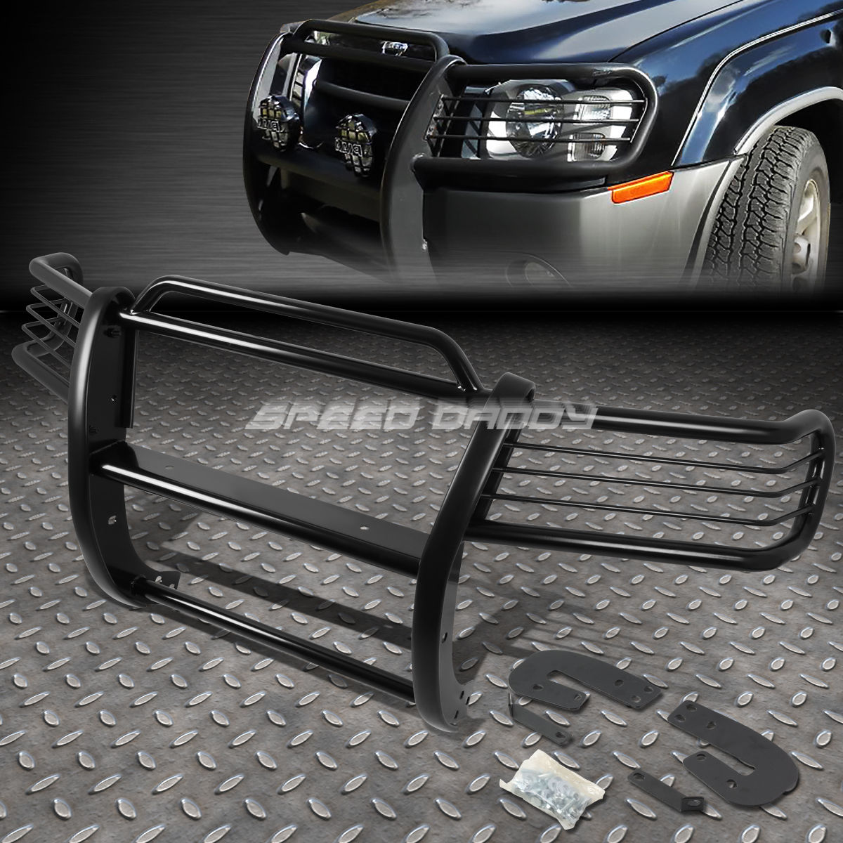 グリル 黒塗装されたマイルストーンフロントバンパーグリルガード02-04 NISSAN XTERRA WD22 BLACK COATED MILD STEEL FRONT BUMPER GRILL GUARD FOR 02-04 NISSAN XTERRA WD22