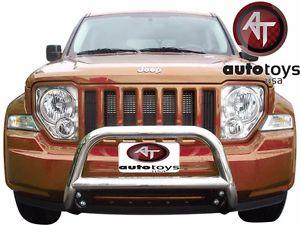 グリル ATU 2008-2013ジープリバティーSTAINLESS BULLスポーツバーバンパーグリルガード ATU 2008-2013 Jeep Liberty STAINLESS BULL Sport BAR BUMPER Grille GUARD