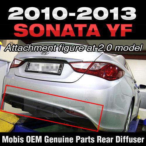 グリル 後部バンパーガードスキッドプレートディフューザブラックHYUNDAI 2011-2014ソナタYF i45 Rear Bumper Guard Skid Plate Diffuser Black For HYUNDAI 2011-2014 Sonata YF i45