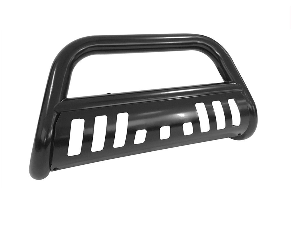 グリル フィット2007-2017トヨタトンドラブラックブルバーグリルガードフロントバンパー/スキッドプレート Fit 2007-2017 Toyota Tundra Black Bull Bar Grill Guard Front Bumper w/Skid Plate