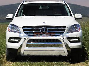 グリル 98-05メルセデスMLクラスステンレス鋼ブルバーフロント保護グリルガード 98-05 Mercedes ML-Class Stainless Steel Bull Bar Front Protection Grille Guard