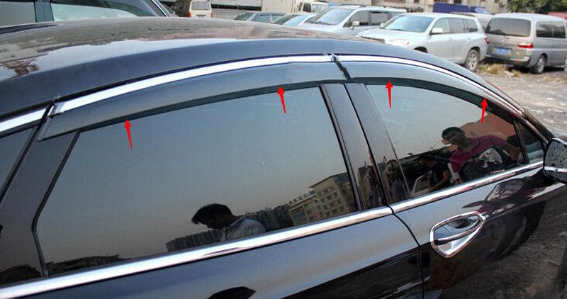 グリル FORD FUSION Mondeo 2013-2016のための新しいウィンドウバイザーベントサンレインガード New Window Visor Vent Sun Rain Guard For FORD FUSION Mondeo 2013-2016