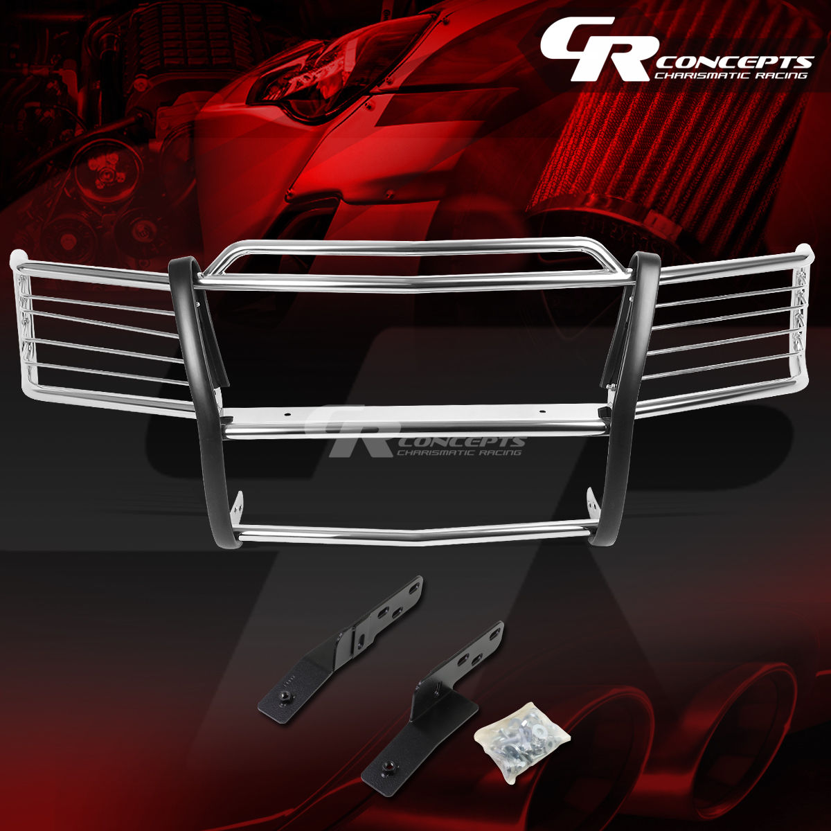 グリル クロムステンレスブラシグリルガードフレーム00-06 TAHOE / SUBURBAN 1500 CHROME STAINLESS STEEL BRUSH GRILL GUARD FRAME FOR 00-06 TAHOE/SUBURBAN 1500