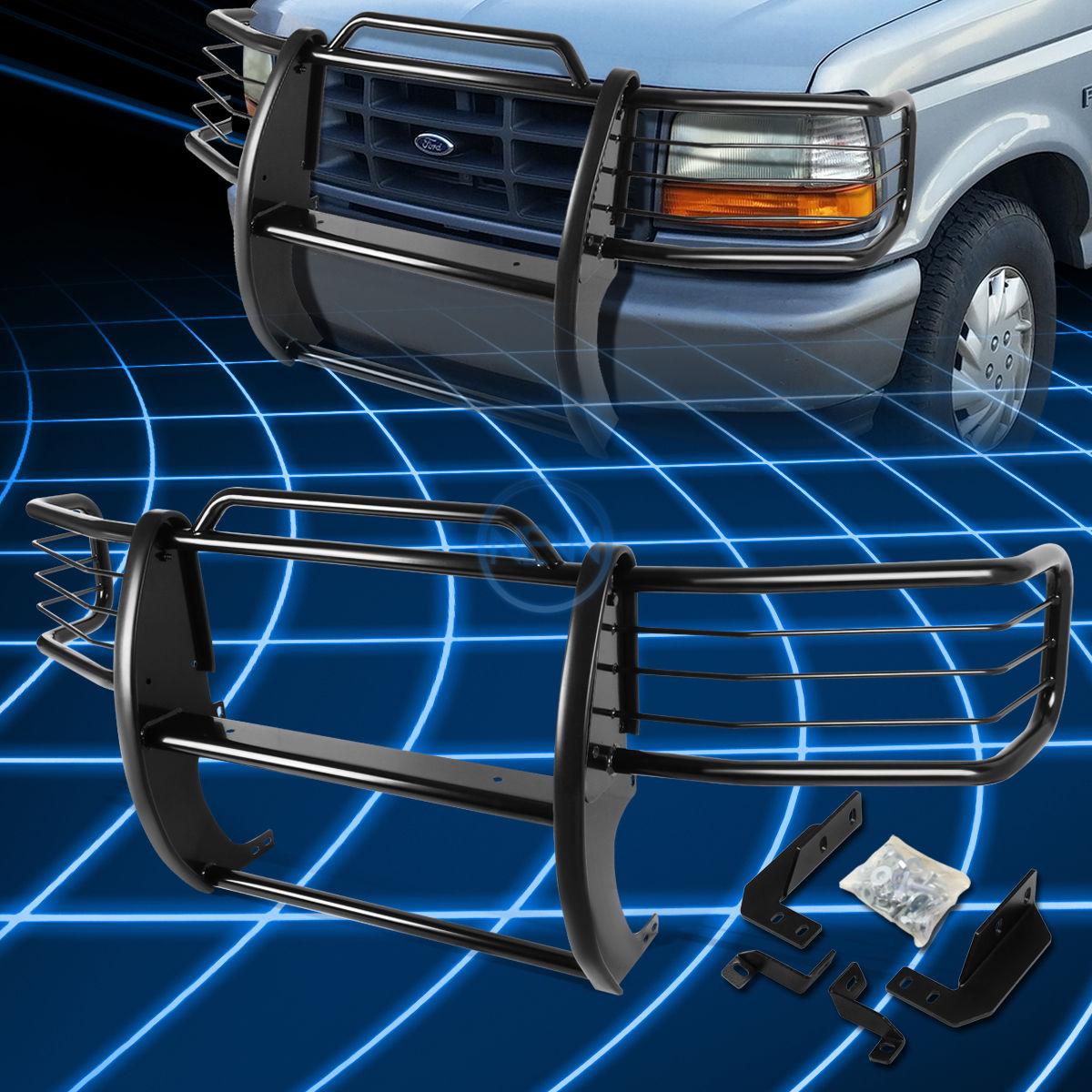 グリル ブラックブラシバンパープロテクターグリルガード1992-1996用フォードF150-F350ピックアップ Black Brush Bumper Protector Grille Guard for 1992-1996 Ford F150-F350 Pickup