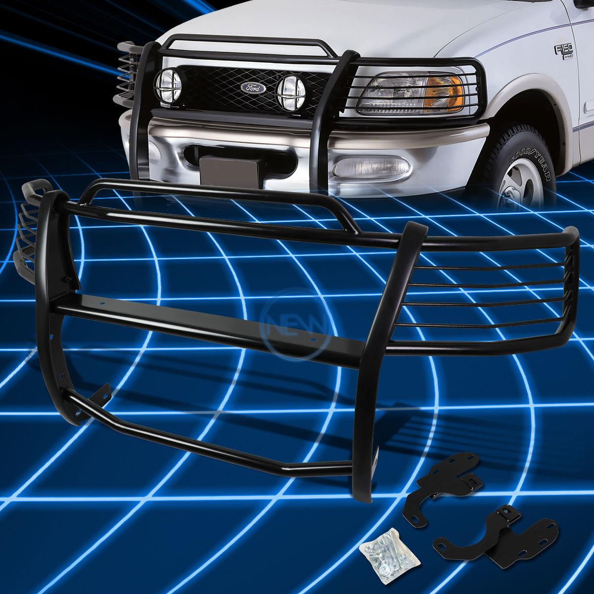 グリル ブラックブラシバンパープロテクターグリルガード(1999-2002)遠征/ F15  0 2WD Black Brush Bumper Protector Grille Guard for 1999-2002 Expedition/F150 2WD