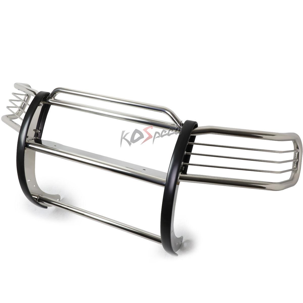 グリル 03-11ホンダエレメントY1 / H1用クロームステンレスブラシグリルガードフレーム Chrome Stainless Steel Brush Grille Guard Frame for 03-11 Honda Element Y1/H1