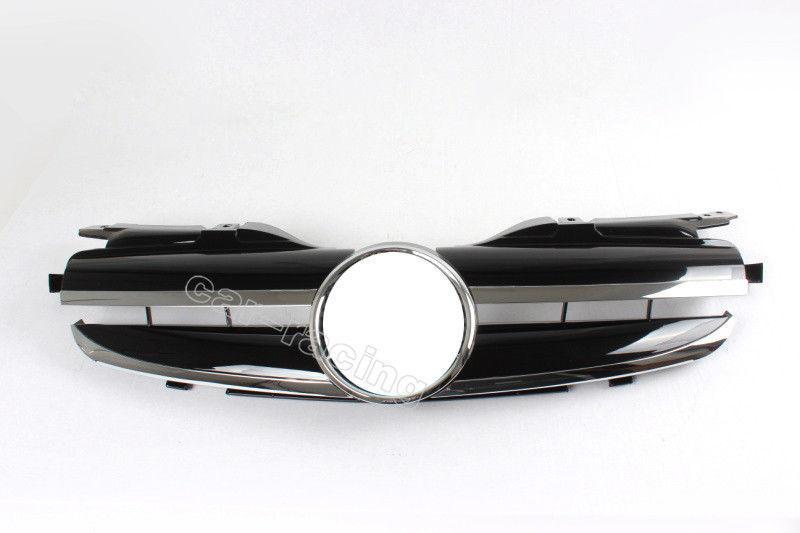 グリル フロントグリルバンパーフードグリルメッシュフィットメルセデスベンツR170 SLKクラス96-04 Front Grill Bumper Hood Grille Mesh fit for Mercedes Benz R170 SLK Class 96-04