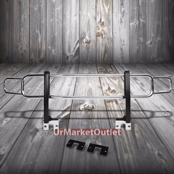 グリル クロームフロントブルバーバンパーブラシグリルガードフレーム06-10ハマーH3 / H3T Chrome Front Bull Bar Bumper Brush Grille Guard Frame For 06-10 Hummer H3/H3T