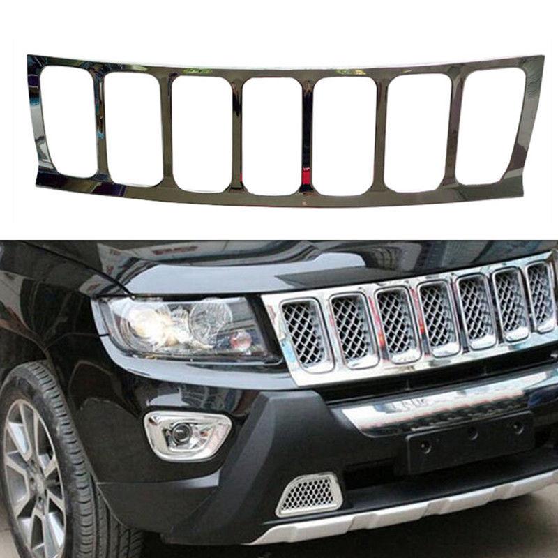 グリル ジープコンパス2007-2010用フロントバンパーグリルガード+ハニカム bインサートステッカー For Jeep Compass 2007-2010 Front Bumper Grill Guard+Honeycomb Insert Sticker