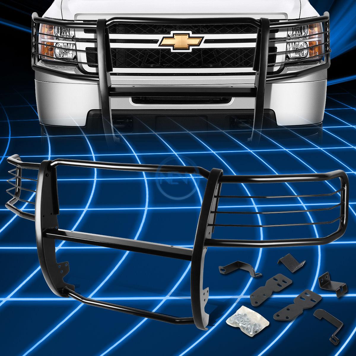 グリル 2007-2013 Silverado 1500 GMT900のためのブラックブラシバンパープロテクターグリルガード Black Brush Bumper Protector Grille Guard for 2007-2013 Silverado 1500 GMT900
