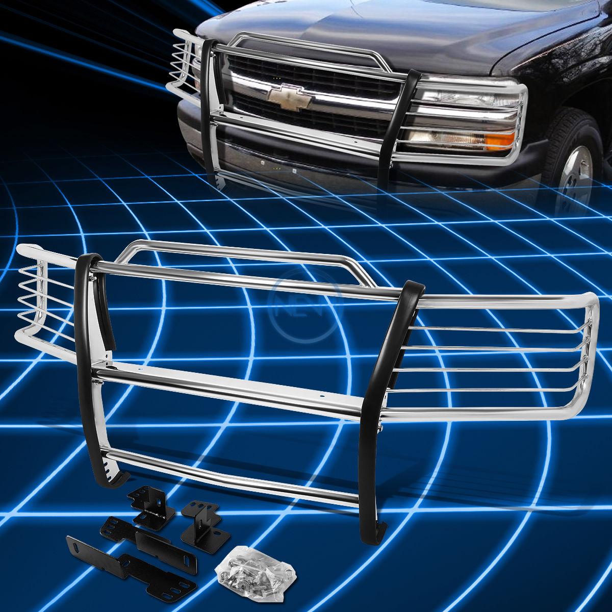 グリル クロムブラシバンパープロテクターグリルガード2000-2006シボレータホ/郊外 Chrome Brush Bumper Protector Grille Guard for 2000-2006 Chevy Tahoe/Suburban